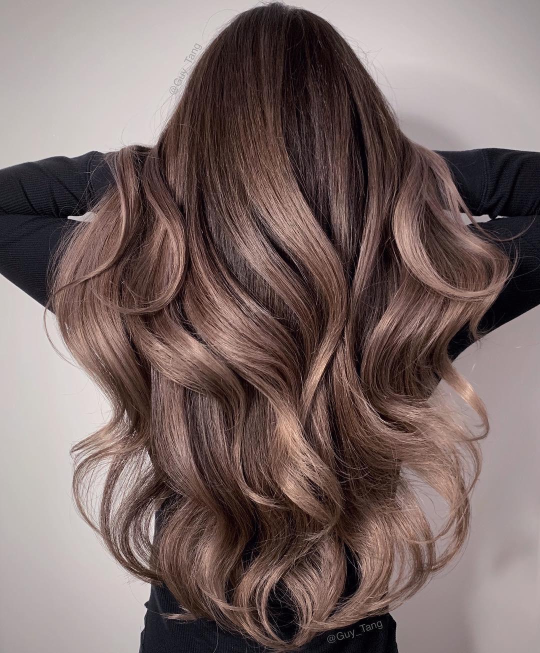 Mushroom Brown Balayage Hair