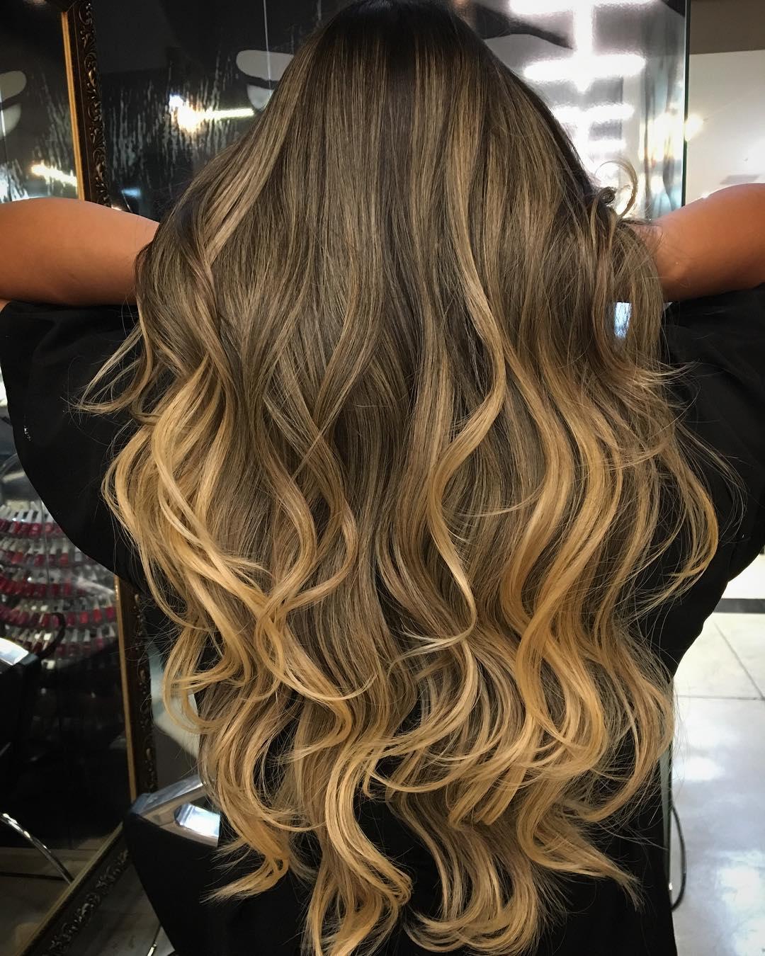 Dark Hair With Light Blonde Highlights
