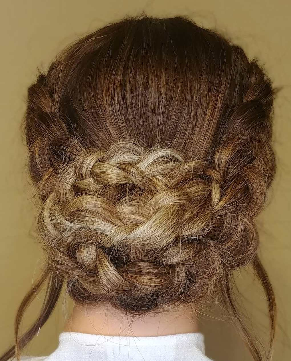 Low Braided Bun For Thick Hair