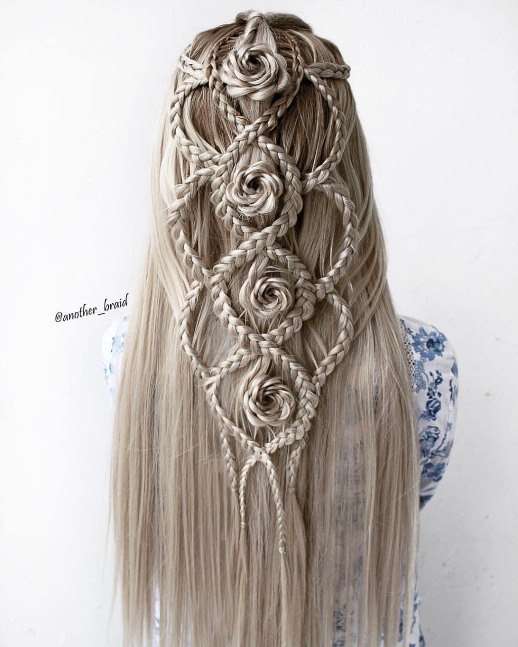 Unusual Braided Wedding Hairstyle