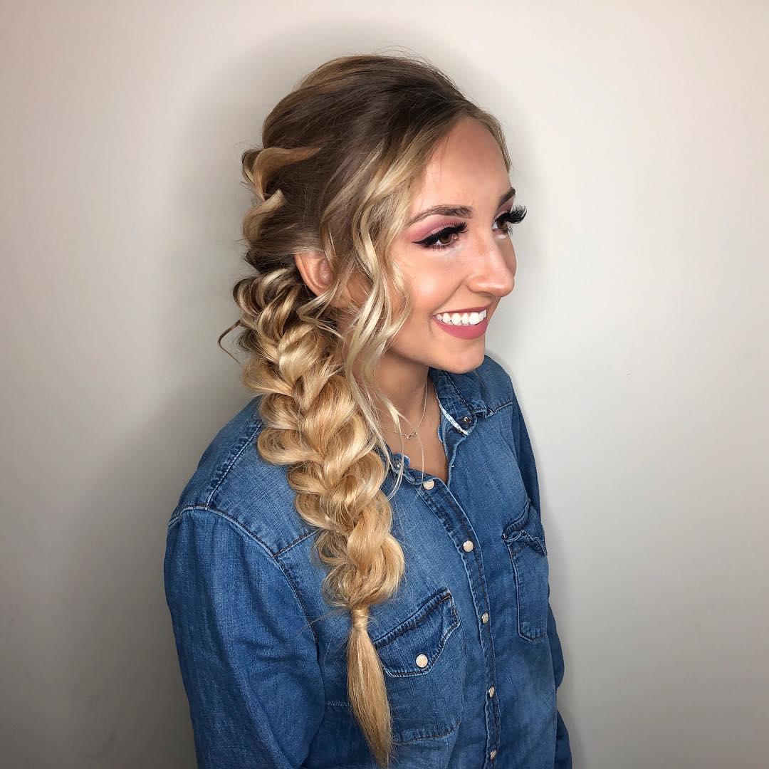 Long Lacy Side Braid