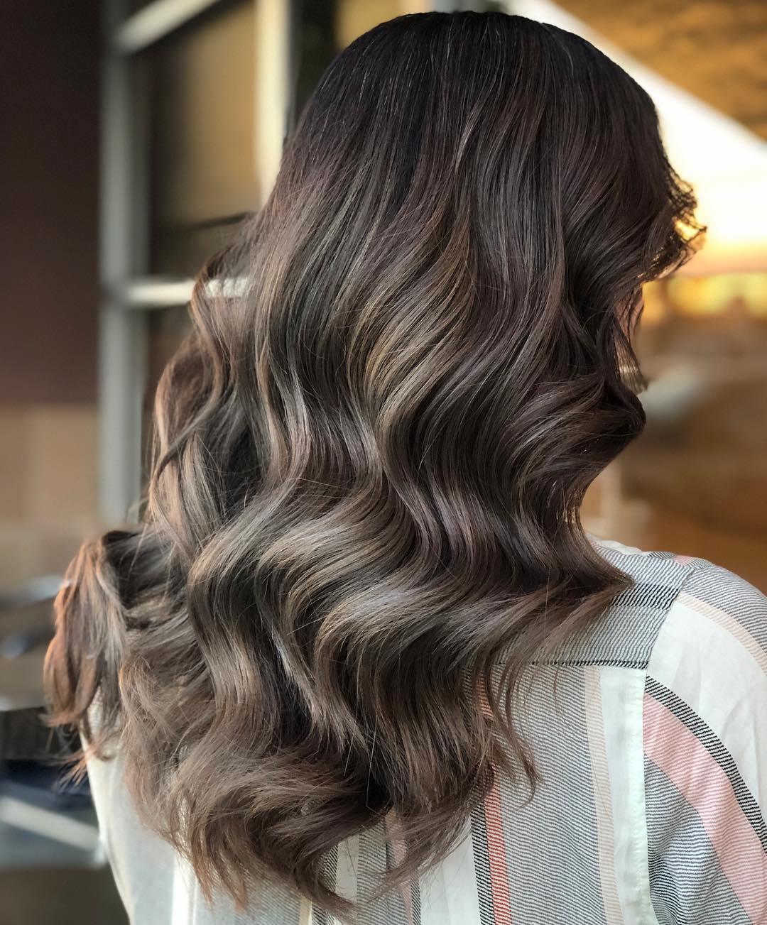 Subtle Ash Brown Balayage Hair