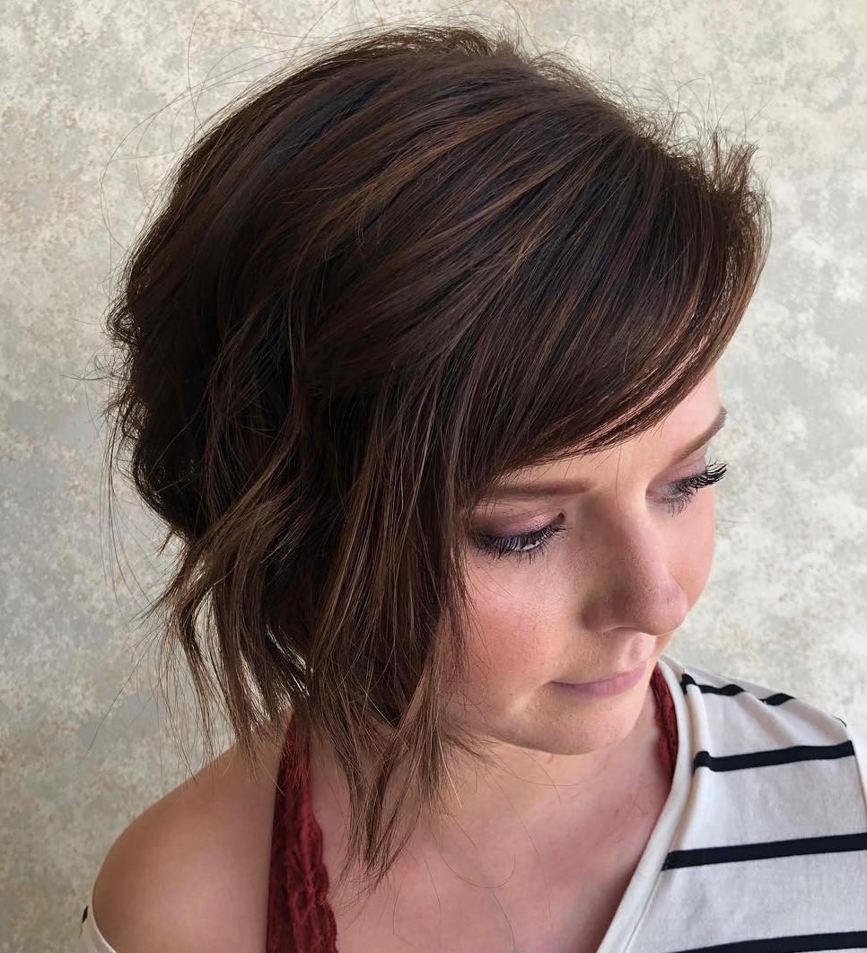 Cute Chin-Length Haircut With Side Bangs