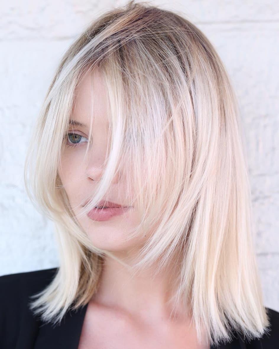 Wispy Blonde Shoulder-Length Bob