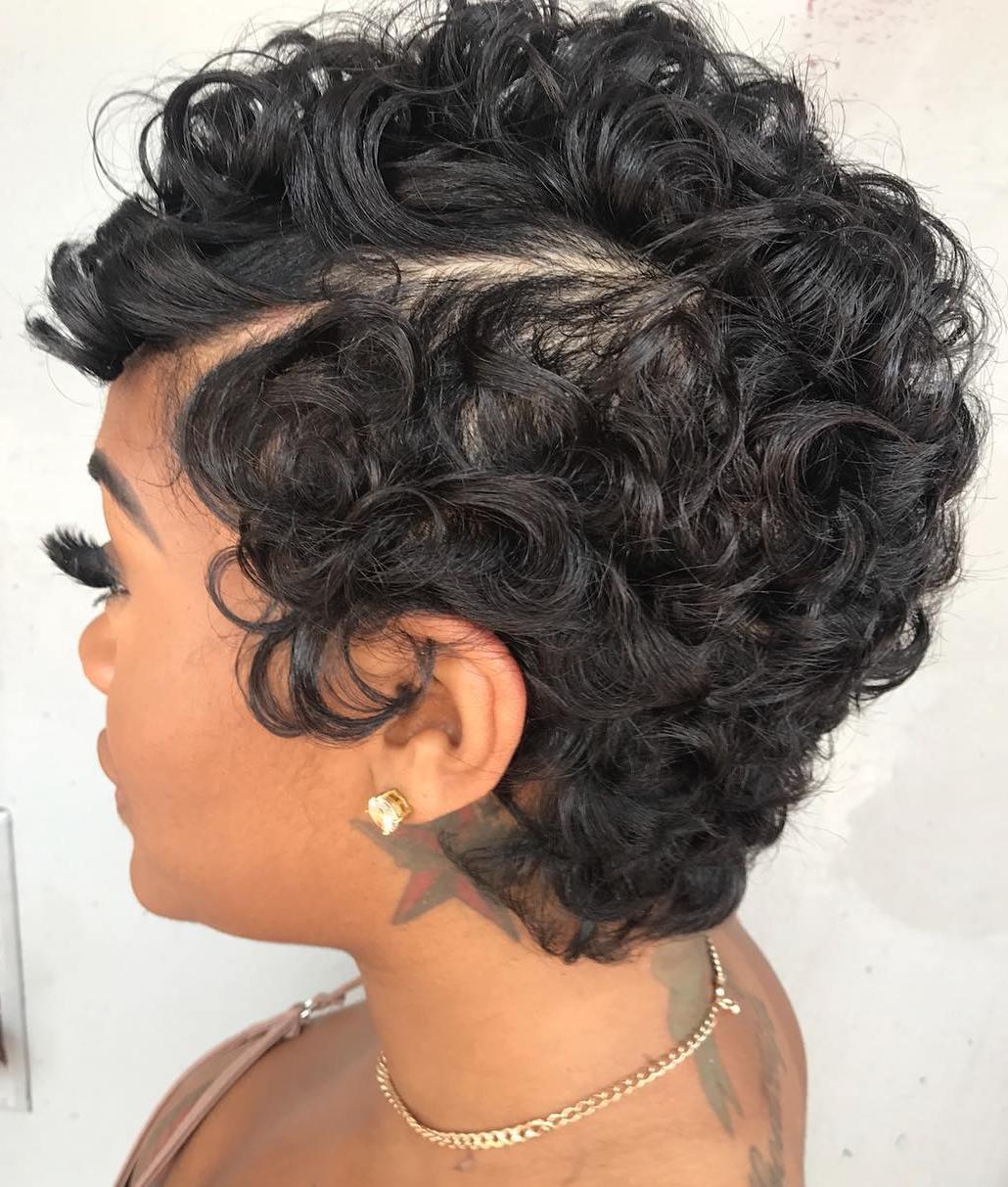 Voluminous Short Curly Pixie
