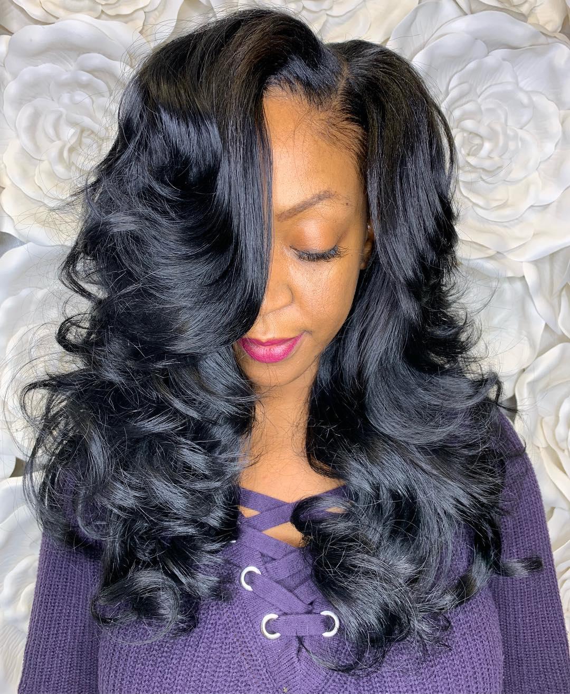 Voluminous Long Weave Hair