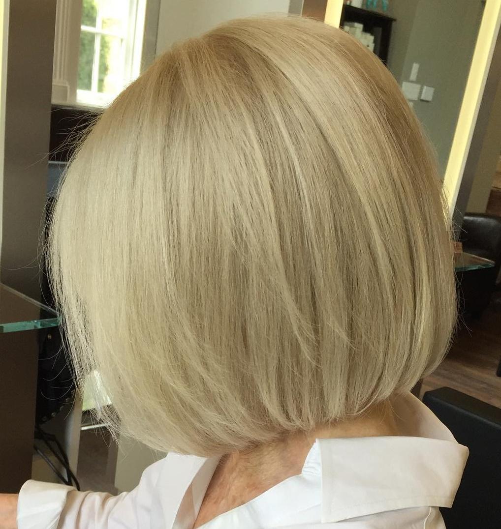 Sleek Blonde Bob