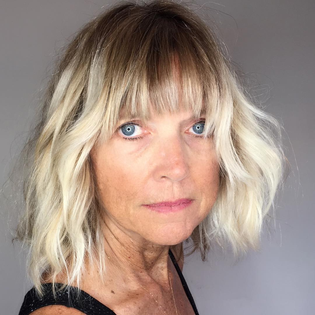 Shoulder Length Hairstyles For Women Over 60 71