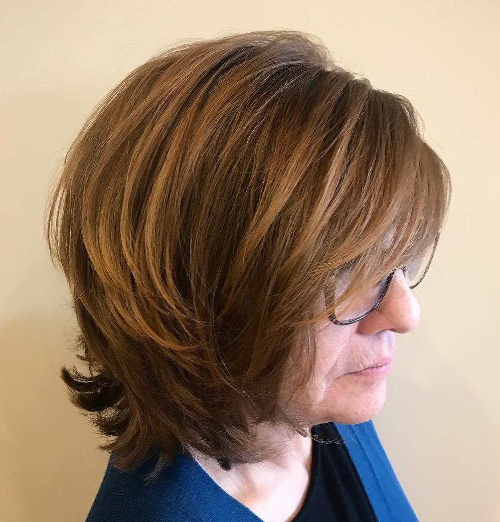 Latest Layered Bob With Glasses