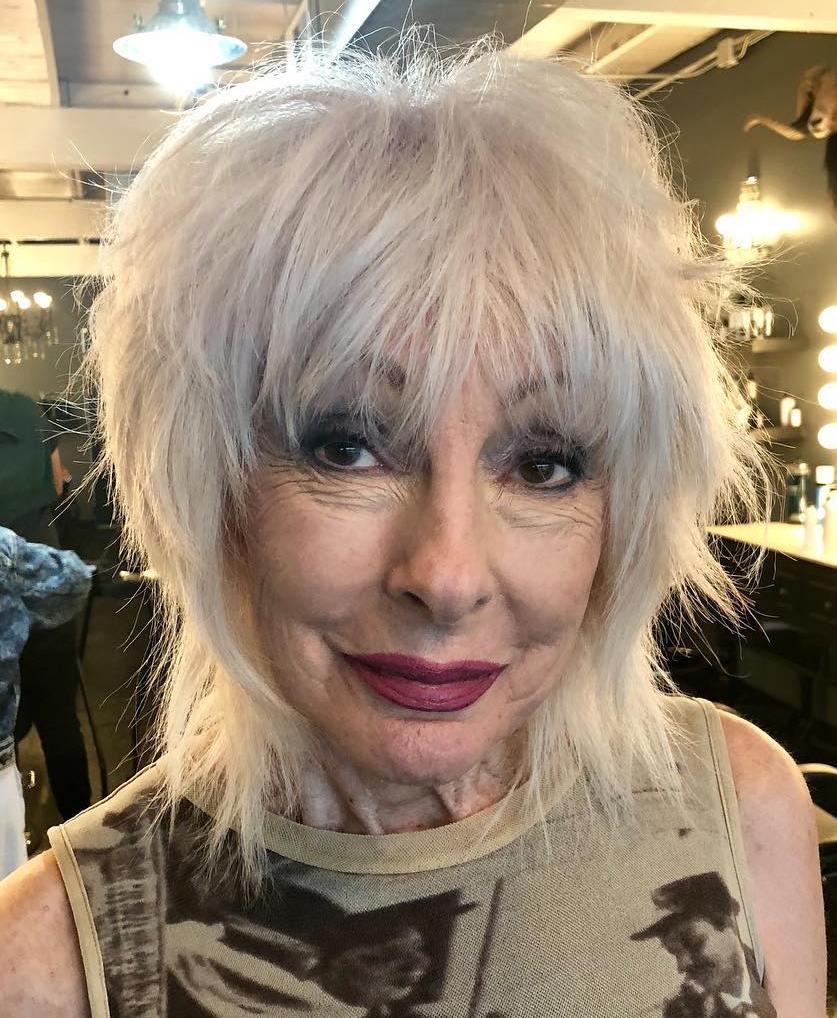 Medium Gray Shag For Older Women