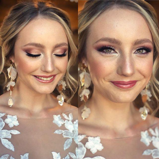 rose gold wedding makeup
