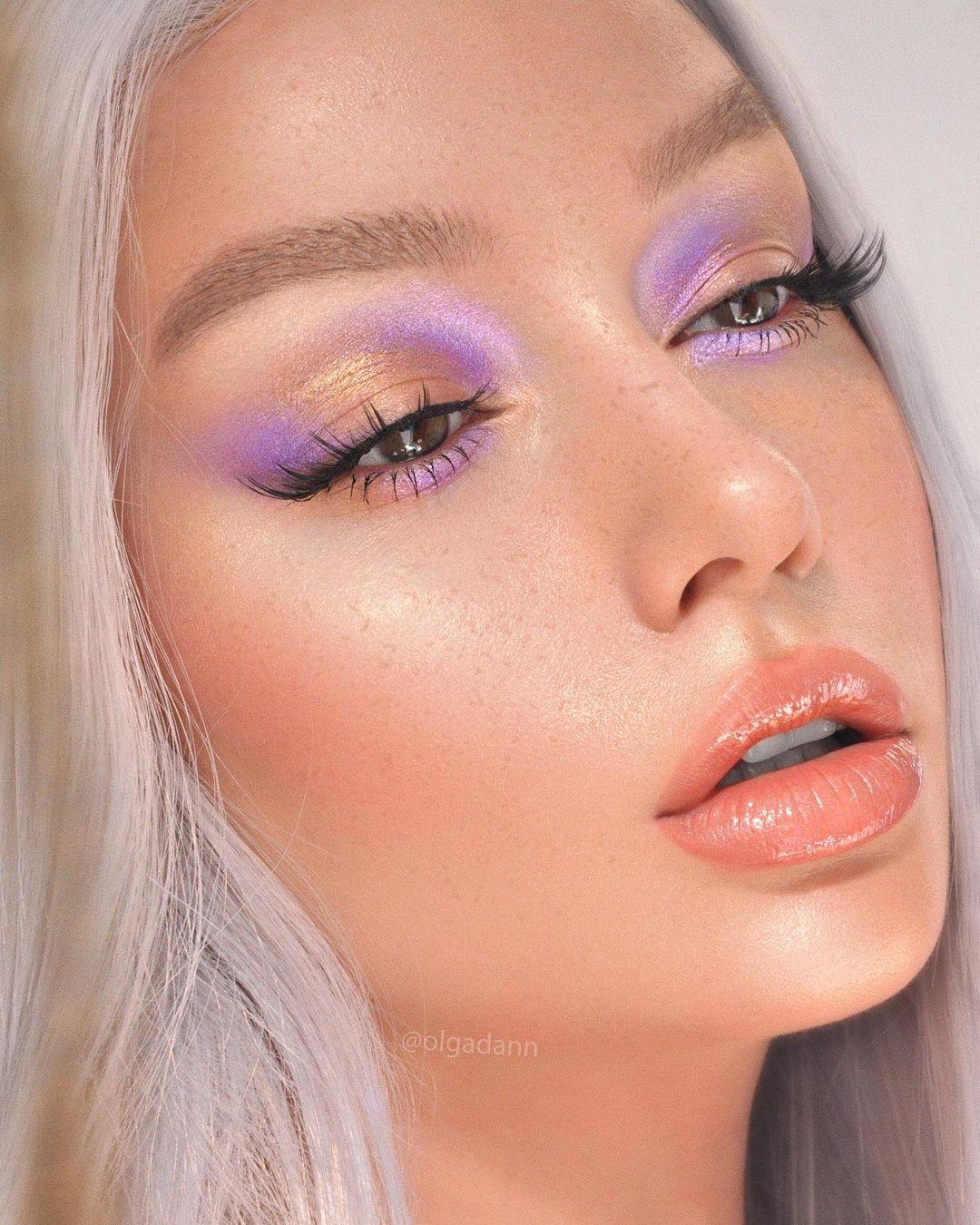 lilac prom makeup