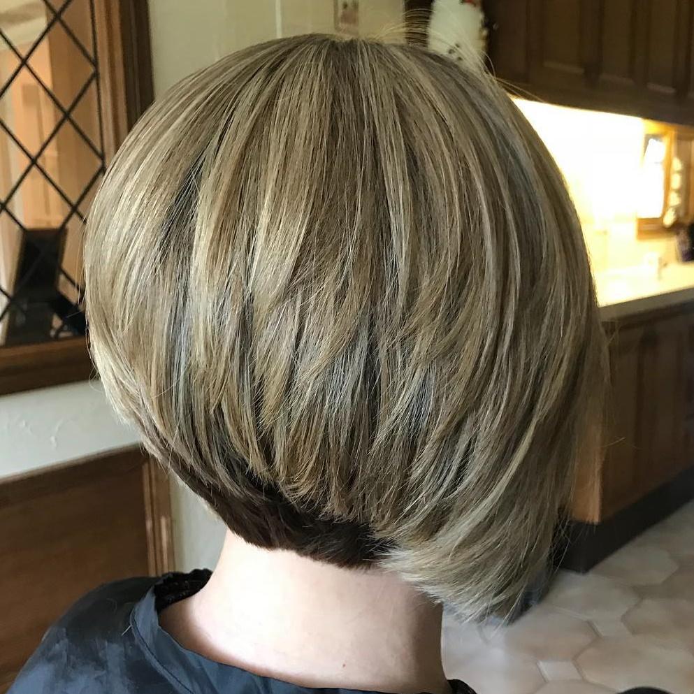 Stacked Short Layered Bob Hairstyles 55