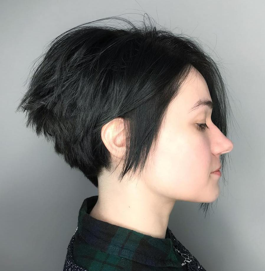 Tapered Pixie With A Long Side Fringe