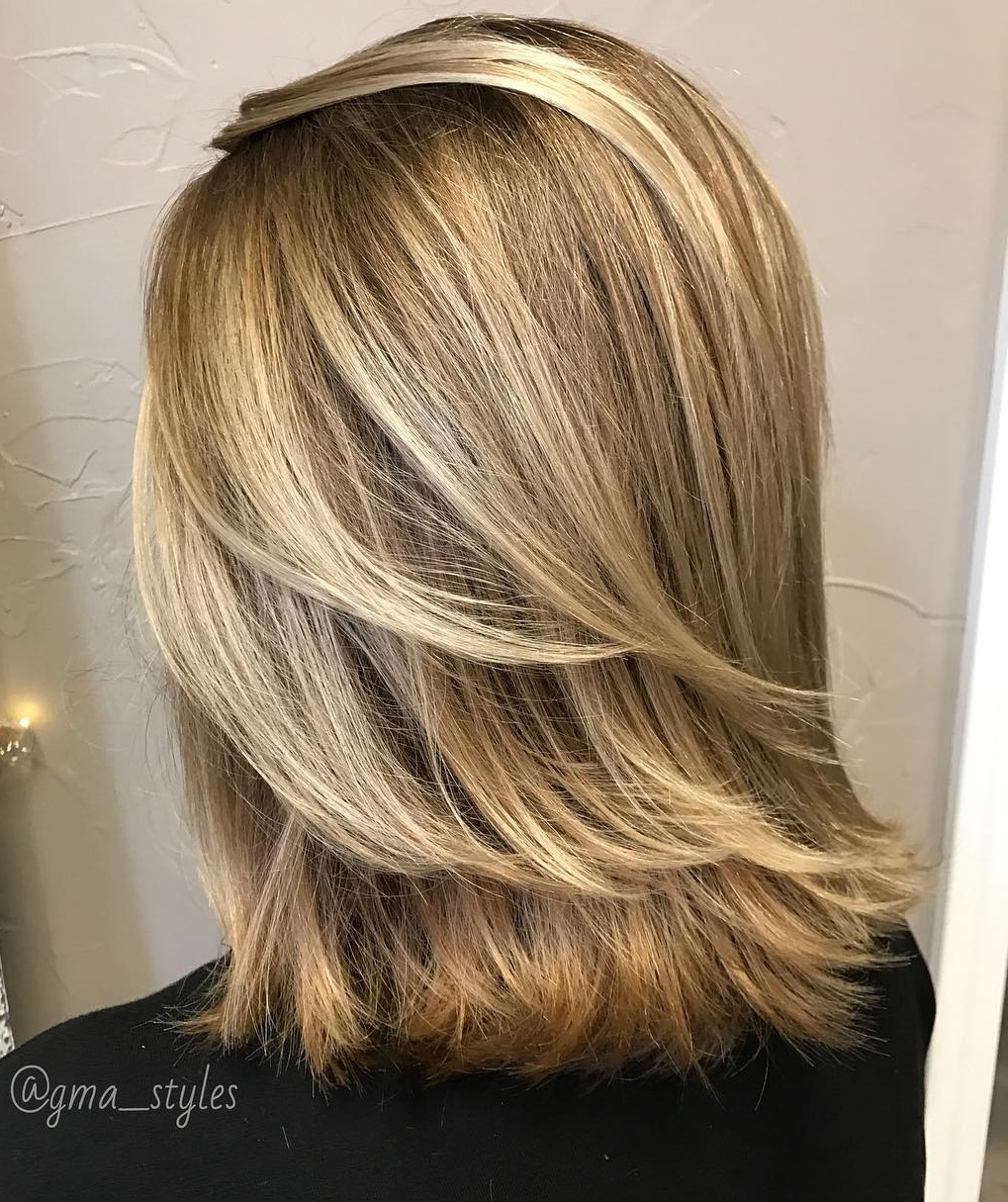 Shoulder Length Cut With Feathered Ends