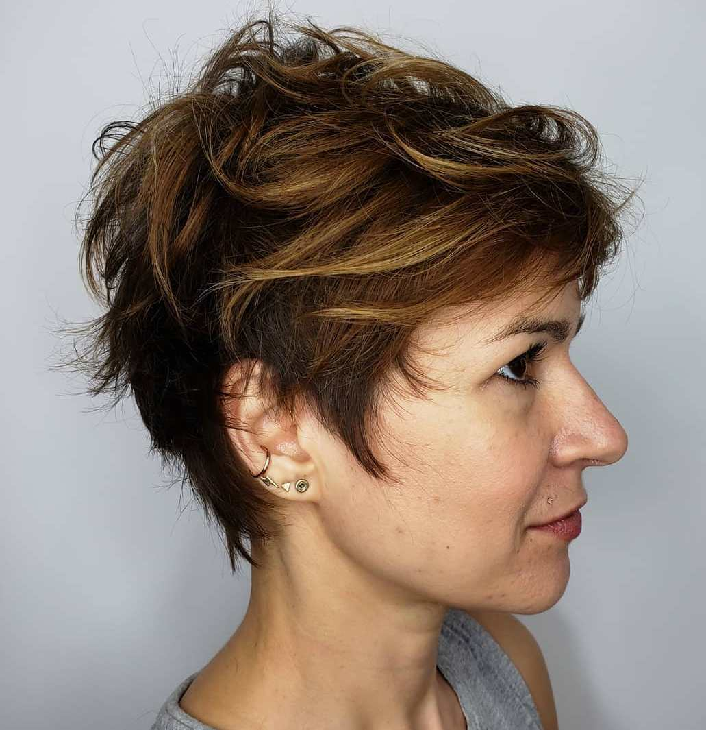 Feathered Pixie With Highlights
