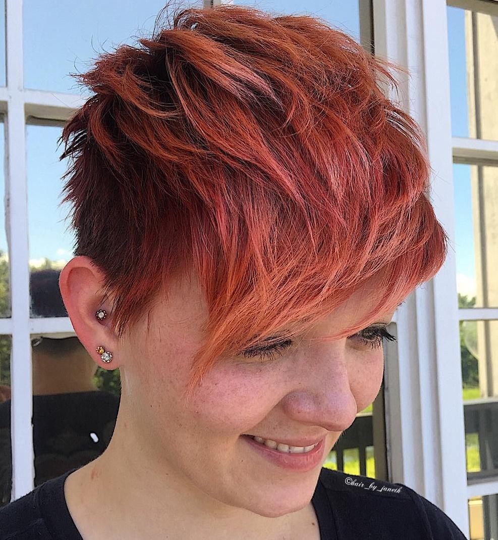 Choppy Red Pixie