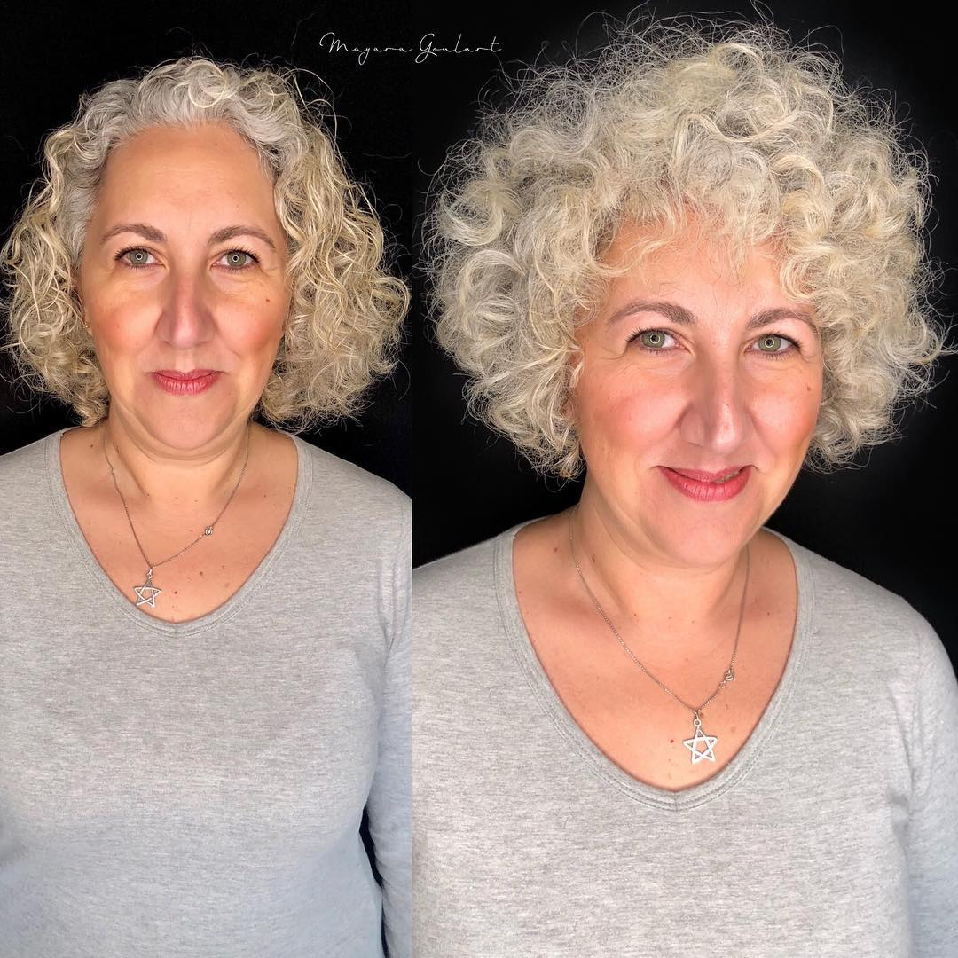Short Rounded Cut For Curly Hair