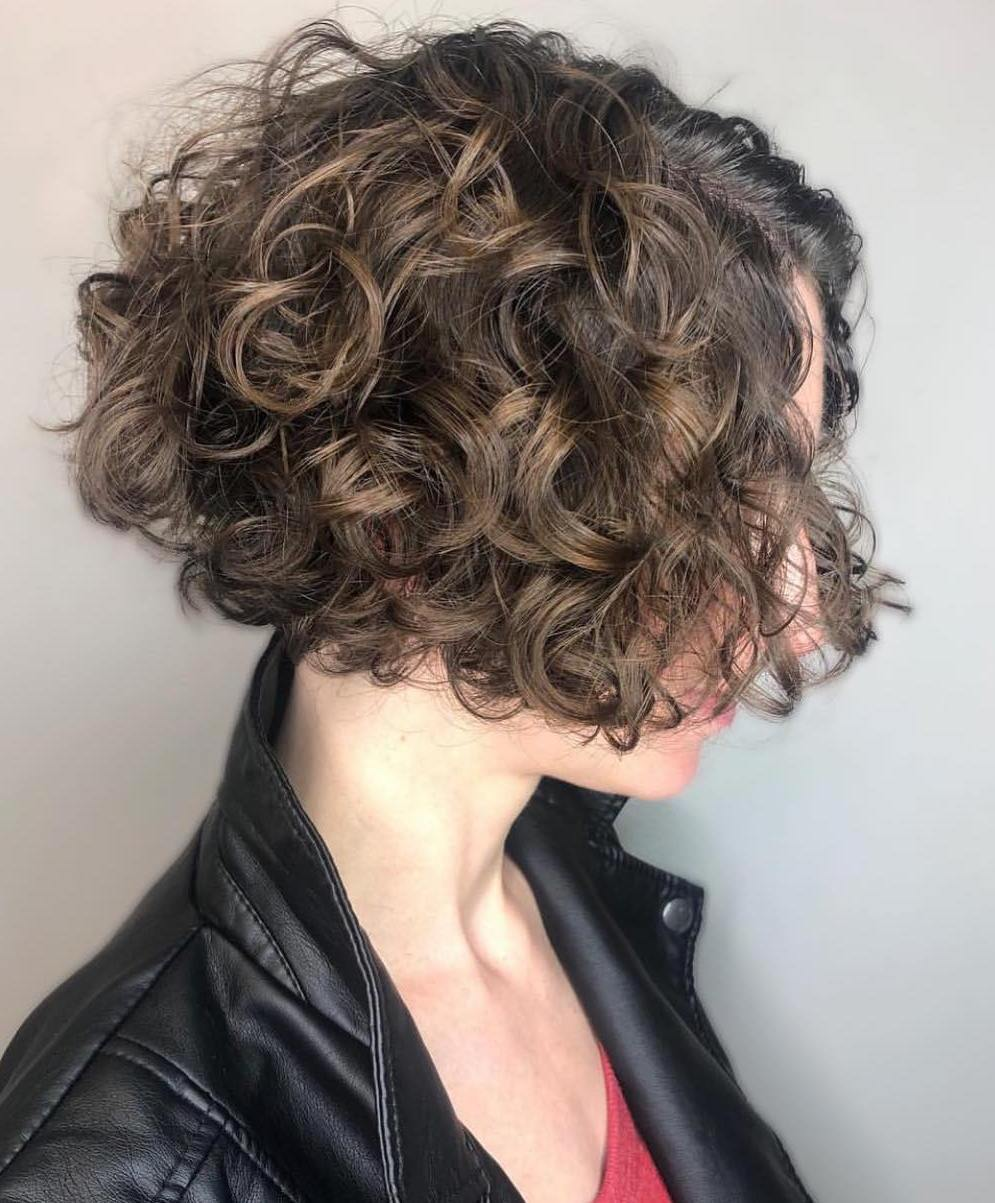 Curly Inverted Above-The-Chin Bob