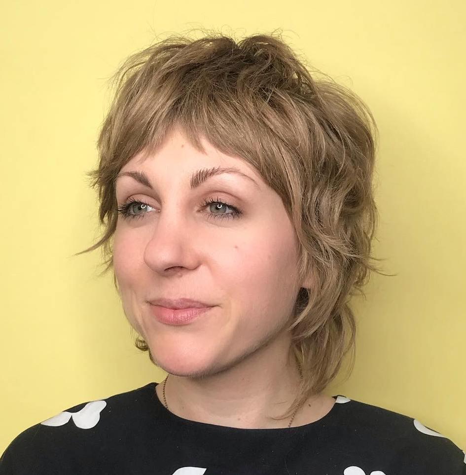 Short Wispy Cut For Wavy Hair