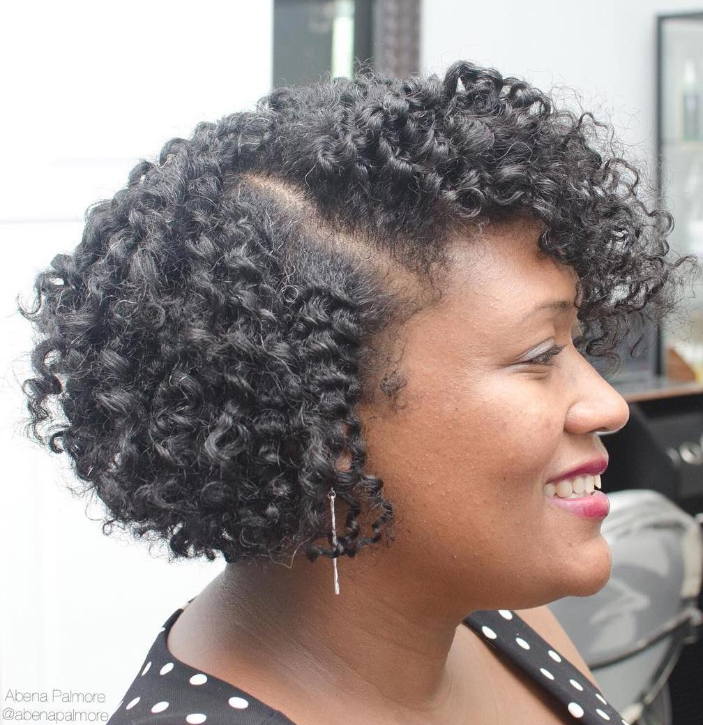 Twist Out Bob With A Side Part