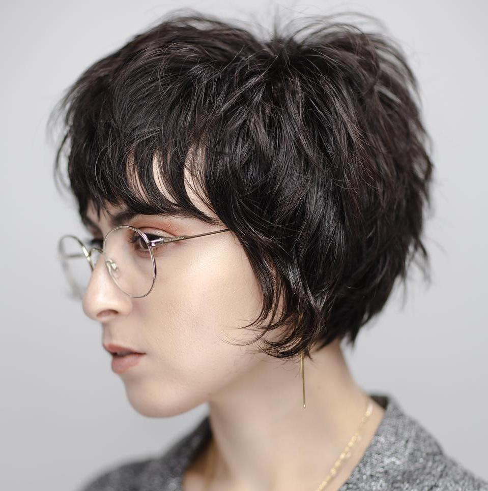 Feminine Short Shaggy Cut