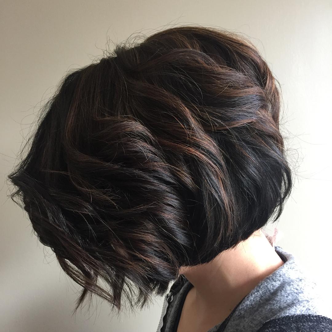 Short Brunette Bob For Thick Hair