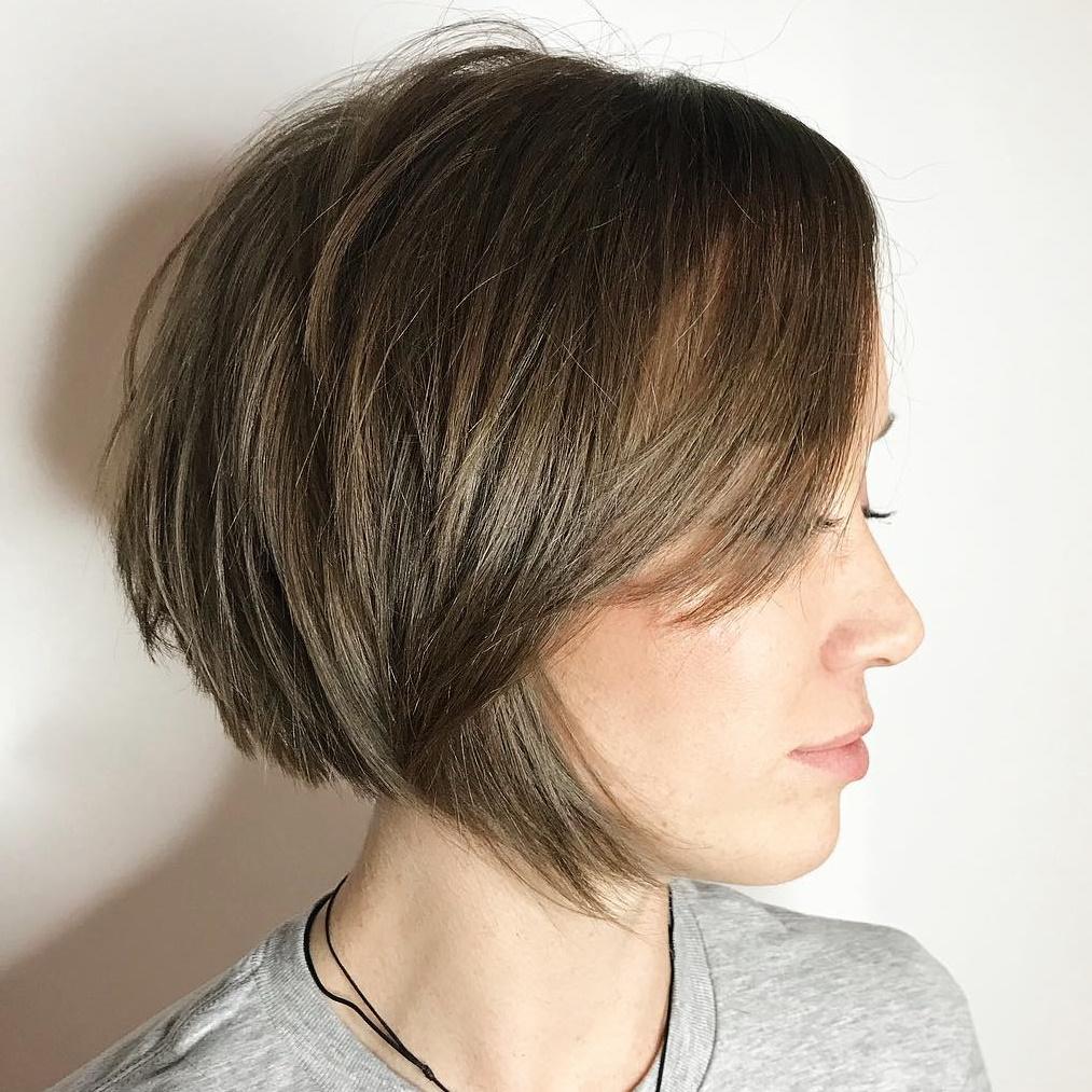 Short Choppy Bob For Fine Straight Hair