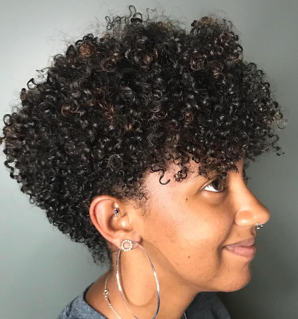 Natural Curly Wedge Bob