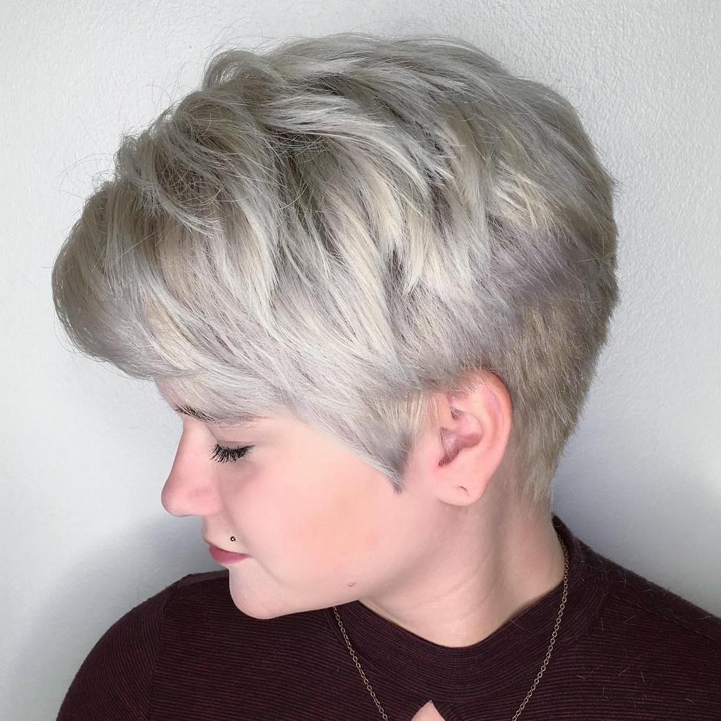 Elegant Silver Blonde Pixie