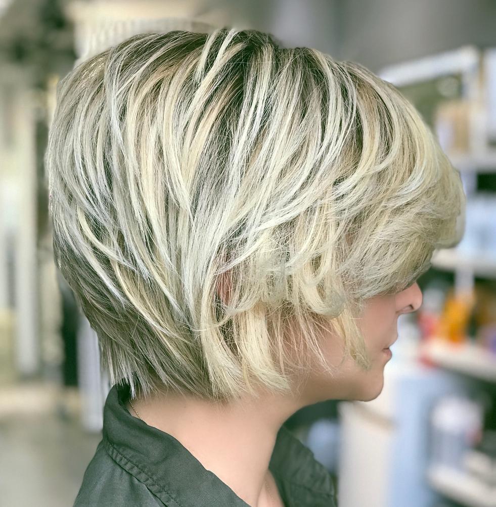 Blonde Piece-Y Crop