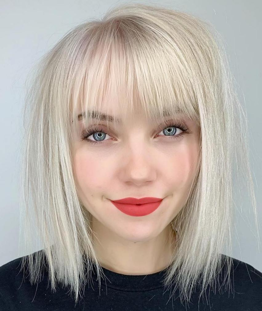Wispy Bob With A Fringe For Fine Hair