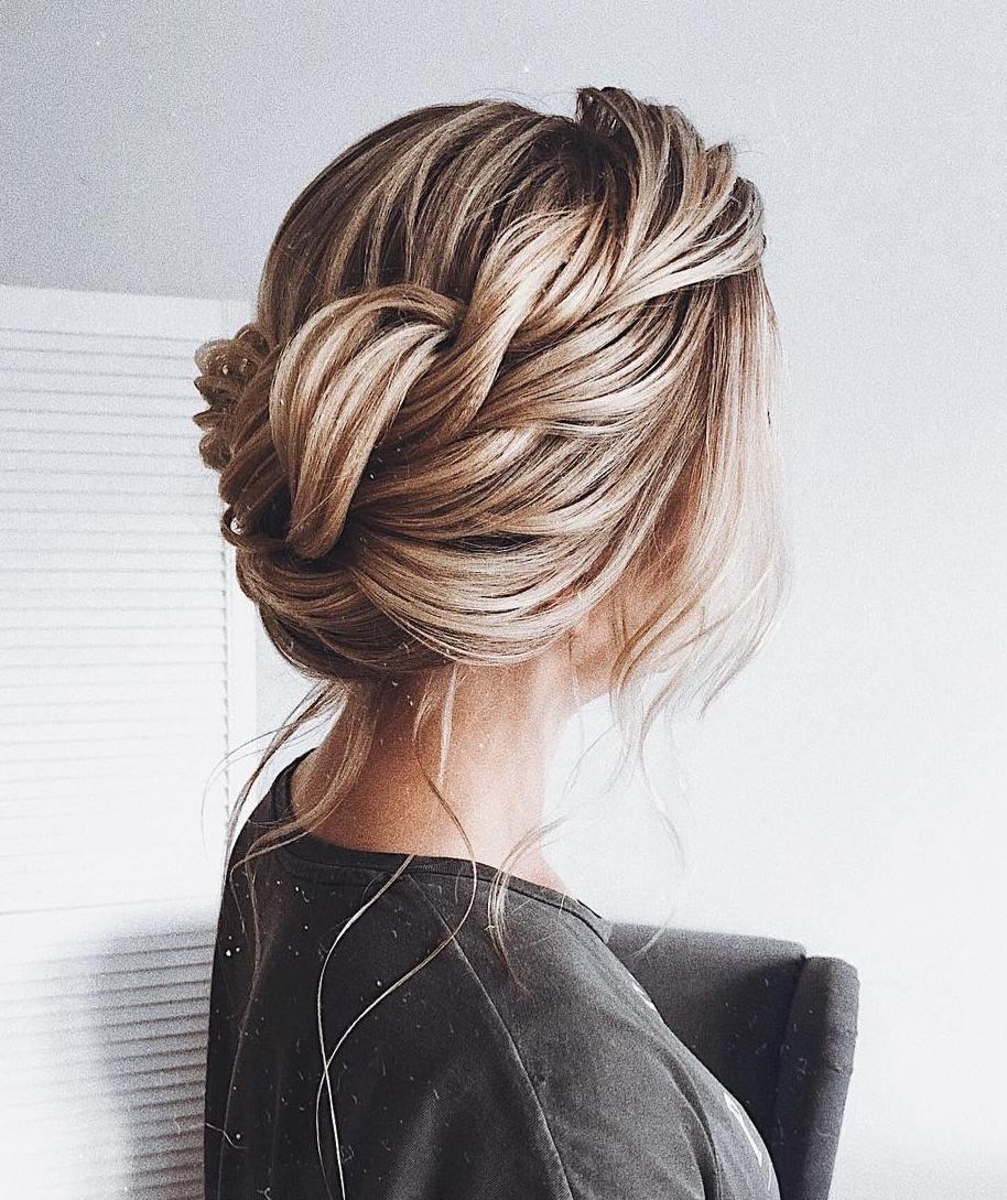 Crown Braid Updo For Fine Hair