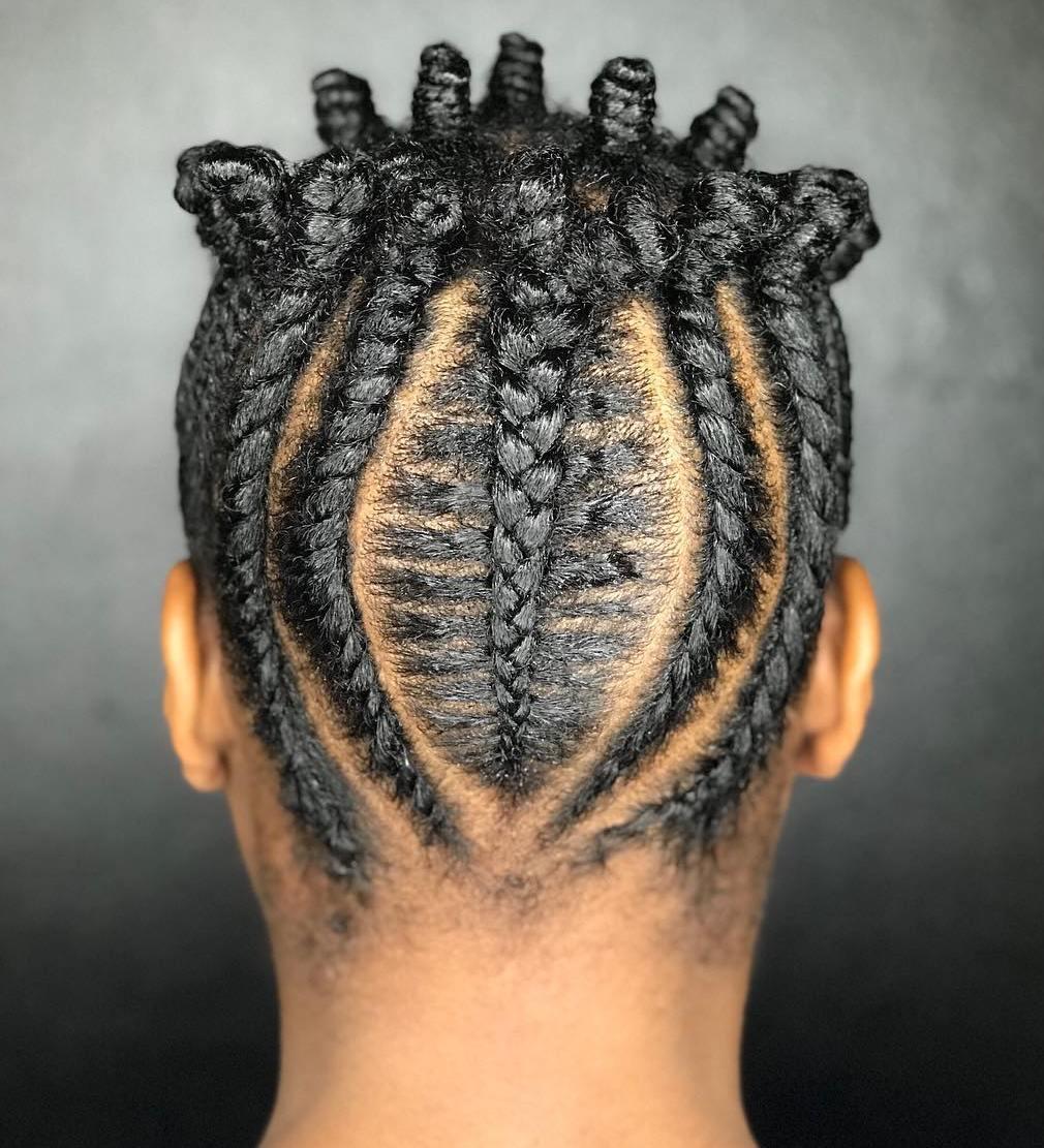Goddess Braids Flat Twists And Bantu Knots