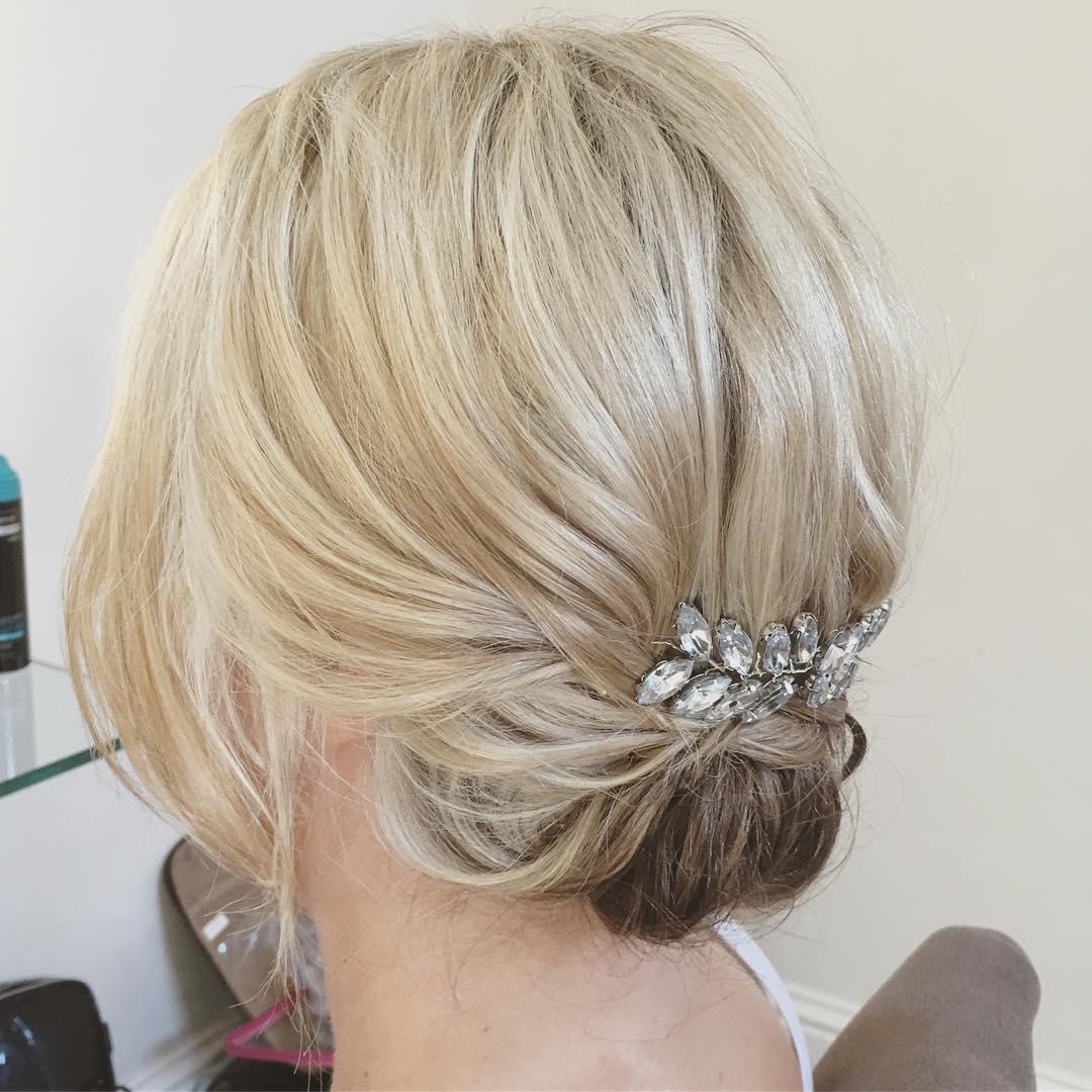 Bridal Chignon For Short Hair