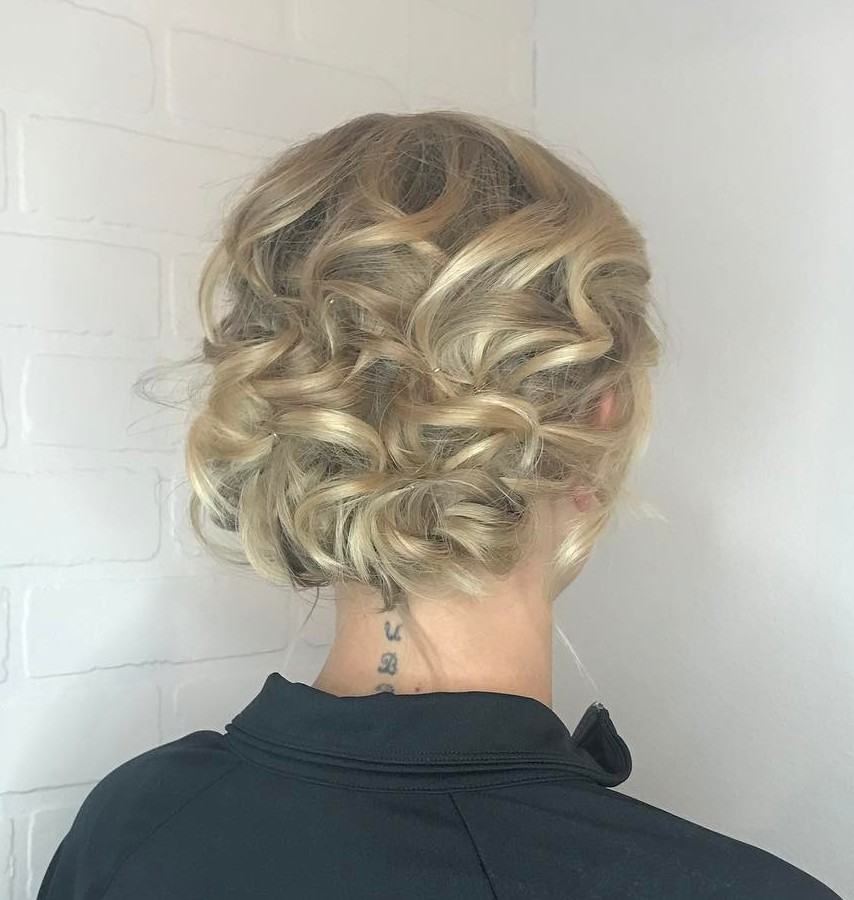 Curled Evening Updo Hairstyle