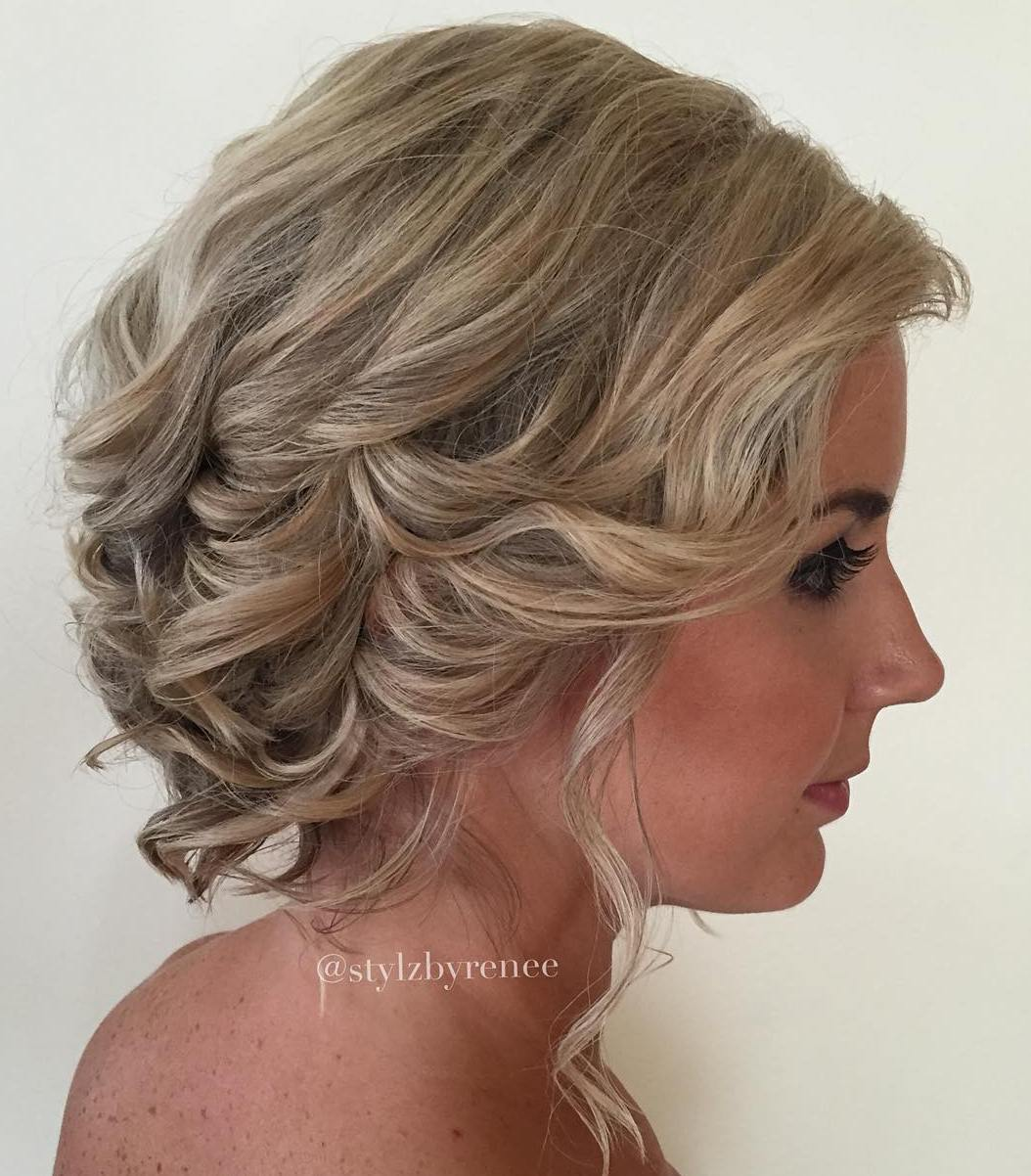 Low Loose Curly Updo For Special Occasion