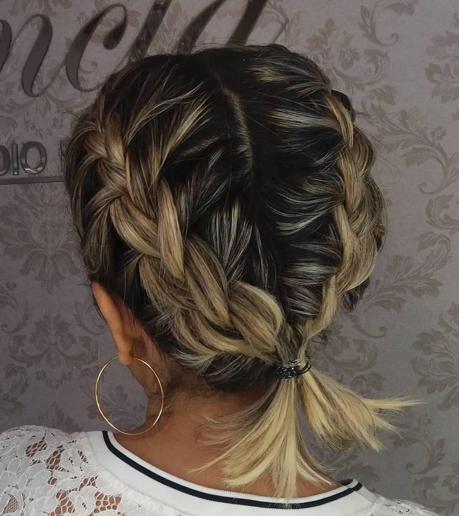 Pigtail Braids For Short To Medium Hair