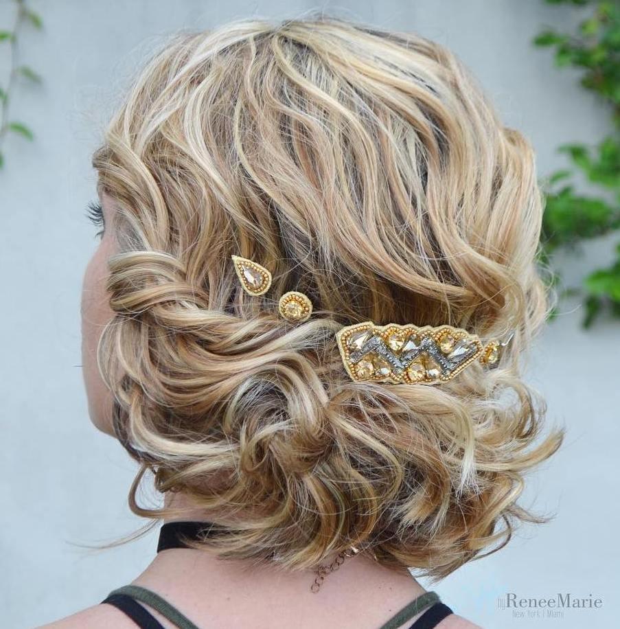 Bridal Short Curly Updo